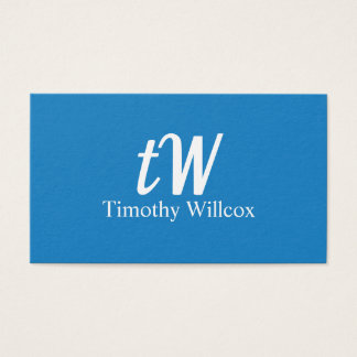 Fresh Minimalist Modern design Elegant Blue Business Card