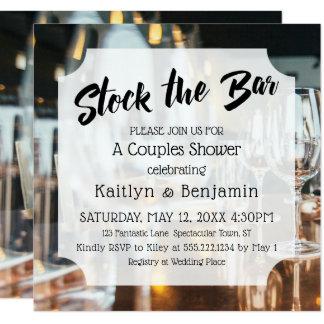 Fresh & Modern Stock the Bar Couples Shower Card