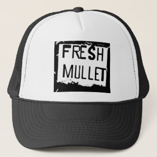 FRESH MULLET Logo Trucker Hat