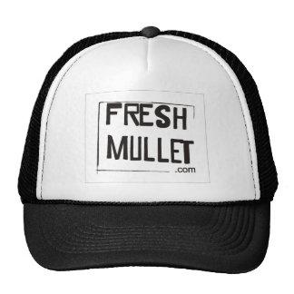 FRESH MULLET Logo - White Trucker Hats