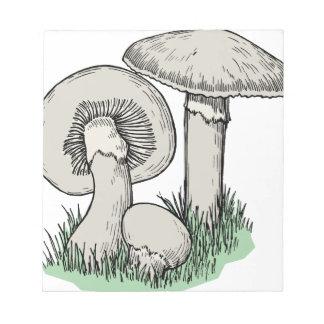Fresh Mushrooms Notepad