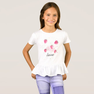 Fresh natural fruit strawberry T-shirt