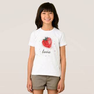 Fresh natural fruit strawberry T-shirt for girl