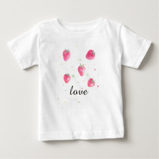 Fresh natural fruit strawberry T-shirt for kids