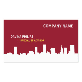 FRESH NEW PROFESSIONAL RED ARTIST CITY WHITE PACK OF STANDARD BUSINESS CARDS