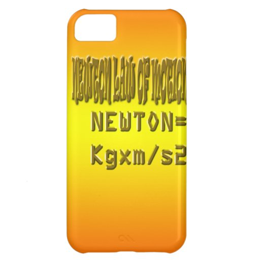 Fresh newton law of motion iPhone 5C cover