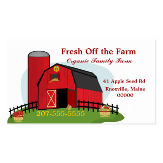 Fresh Organic Farming Pack Of Standard Business Cards