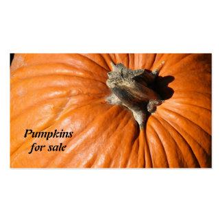 fresh organic pumpkins for sale farm / market business card template