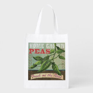 Fresh Peas Vintage Reusable Bag