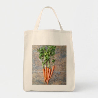 Fresh picked carrot tote grocery tote bag