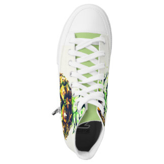 fresh pineapple printed shoes