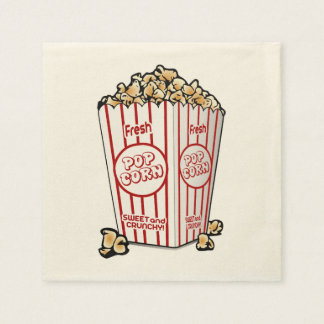 Fresh Popcorn Disposable Serviettes