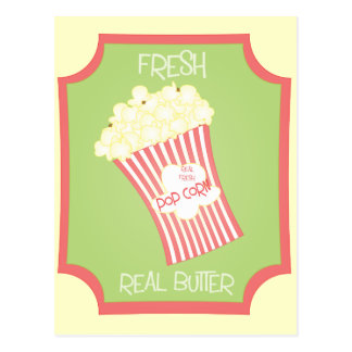 Fresh Popcorn Postcard