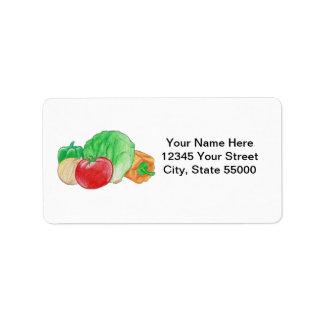 Fresh Produce Address Labels