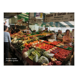 Fresh Produce - Atwater Market Montreal Quebec Poster