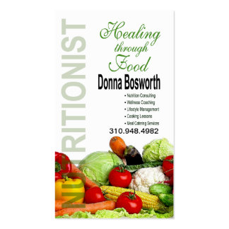Fresh Produce Nutritionist Food Coach, Weight Loss Double-Sided Standard Business Cards (Pack Of 100)