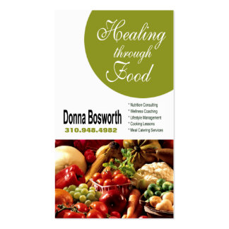 Fresh Produce Nutritionist Food Coach, Weight Loss Pack Of Standard Business Cards