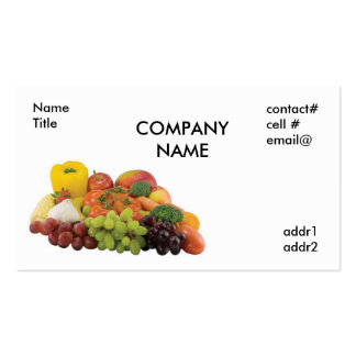fresh produce pack of standard business cards