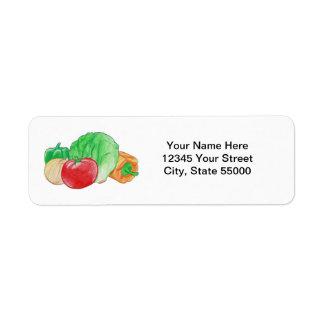 Fresh Produce Return Address Labels