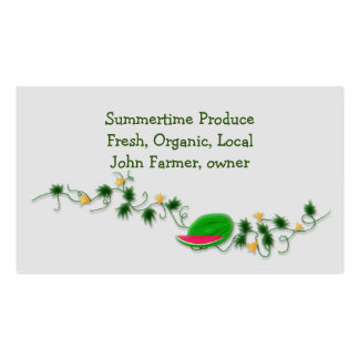 Fresh Produce Template with Watermelon Pack Of Standard Business Cards