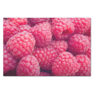 Fresh raspberries tissue paper