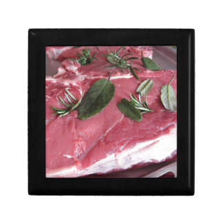 Fresh raw marbled meat steak gift box