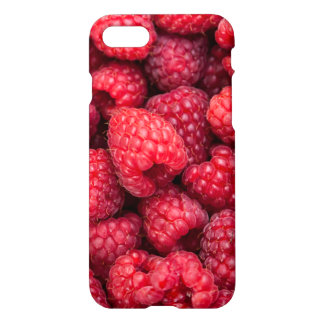 Fresh red raspberries iPhone 7 case