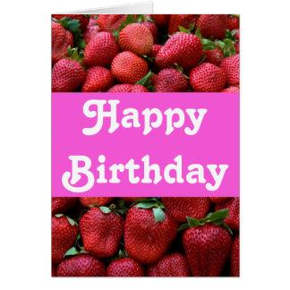 Fresh Red Strawberries Card