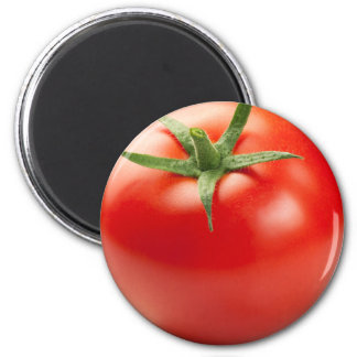 Fresh Red Tomato Isolated On White Background 6 Cm Round Magnet