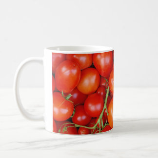 Fresh red tomatoes print coffee mug