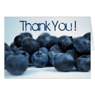 Fresh Ripe Blueberries thank you Card