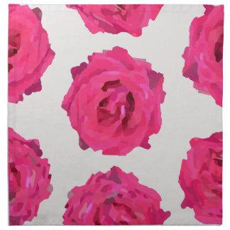 fresh roses napkin