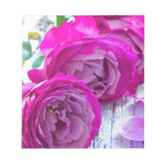 fresh roses notepad