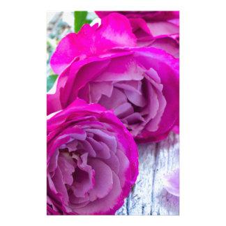 fresh roses stationery paper