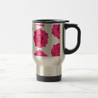fresh roses travel mug