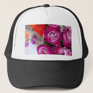fresh roses trucker hat