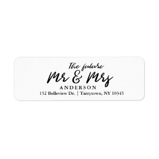 Fresh Script The Future Mr and Mrs Return Address Label