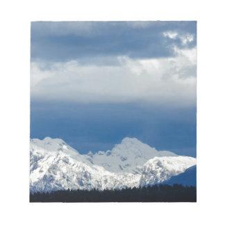 Fresh snow on the Kamnik Alps Notepad