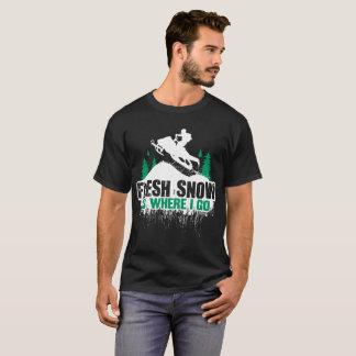 Fresh Snow Snowmobile T-Shirt