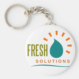 fresh solutions basic round button key ring
