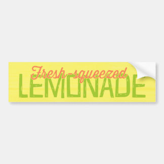 Fresh Squeezed Lemonade Car Bumper Sticker