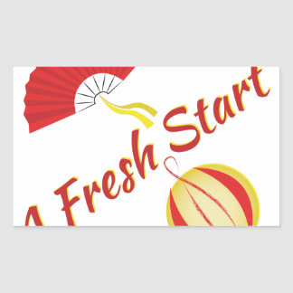 Fresh Start Rectangular Sticker