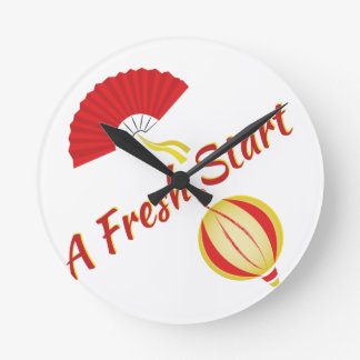 Fresh Start Round Clock