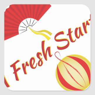 Fresh Start Square Sticker