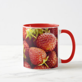 Fresh Strawberries All Over Design Mug