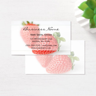 Fresh Strawberries Business Card