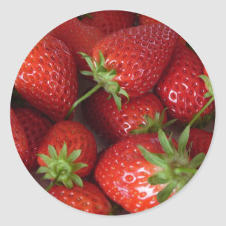 Fresh Strawberries Classic Round Sticker