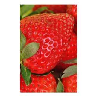 Fresh strawberries custom stationery