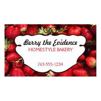 fresh strawberries fruit berry baking cooking card pack of standard business cards