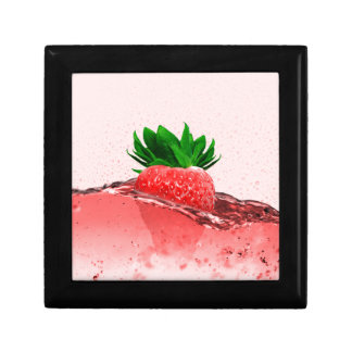 Fresh strawberry juice gift box